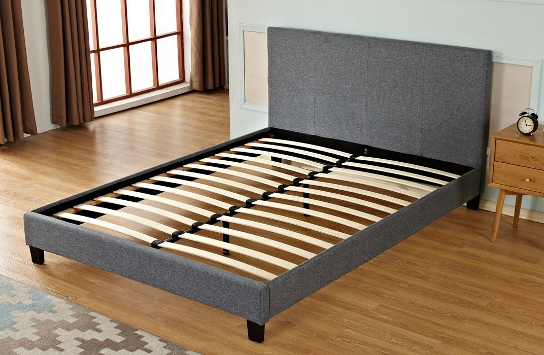 Upholstered Bed Frame with Plain Headboard